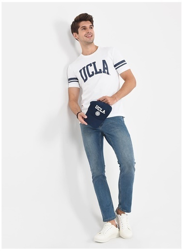 UCLA Ucla Colusa Beyaz Erkek T-Shirt Beyaz